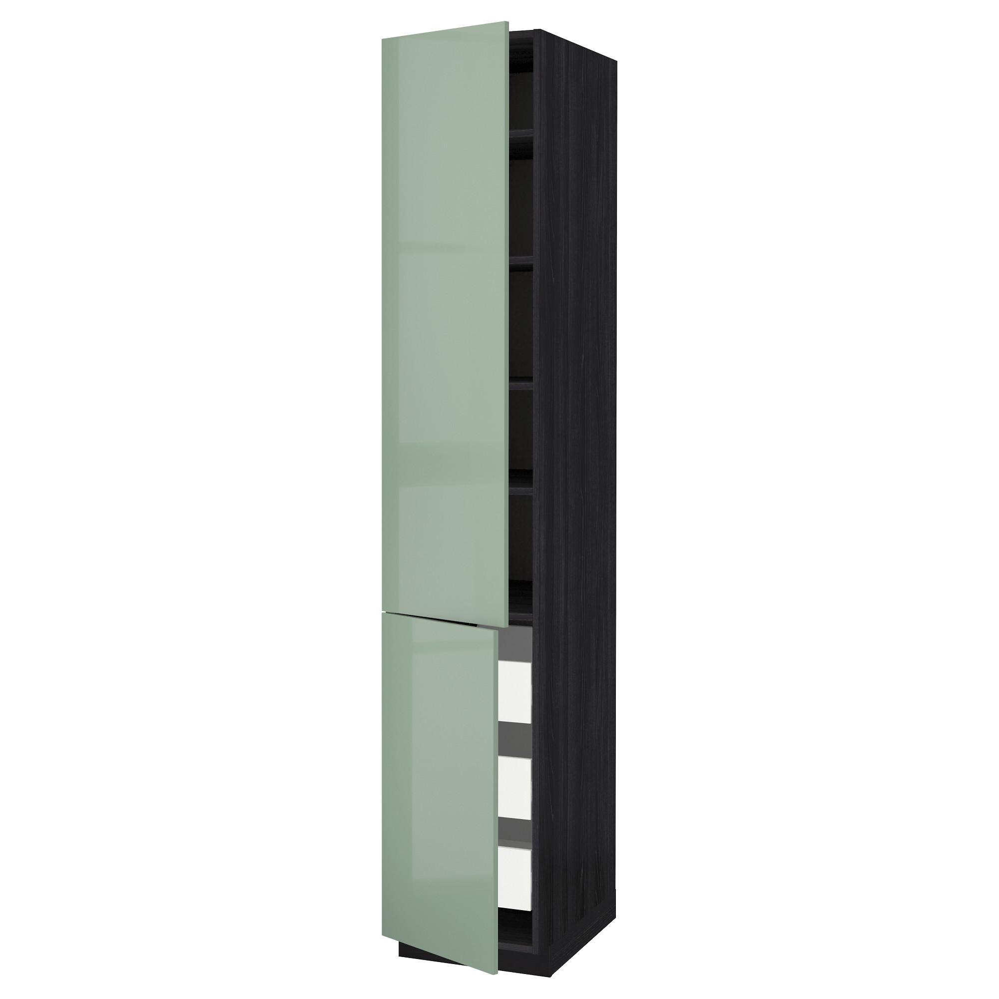 Высокий шкаф + полки, 3 ящика, 2 дверцы МЕТОД / ФОРВАРА черный артикуль № 792.657.85 в наличии. Интернет каталог IKEA Беларусь. Быстрая доставка и установка.