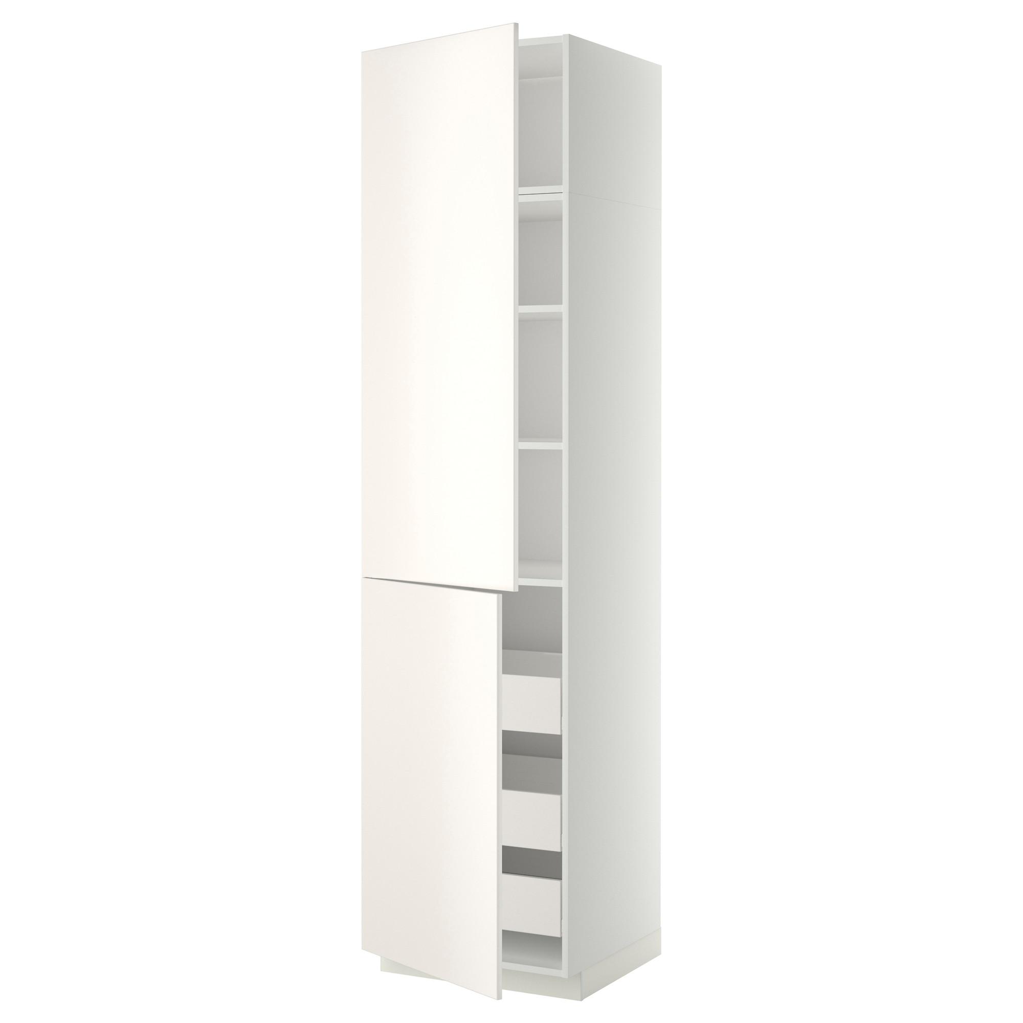 Высокий шкаф + полки, 3 ящика, 2 дверцы МЕТОД / ФОРВАРА белый артикуль № 992.647.56 в наличии. Интернет магазин IKEA Беларусь. Быстрая доставка и монтаж.