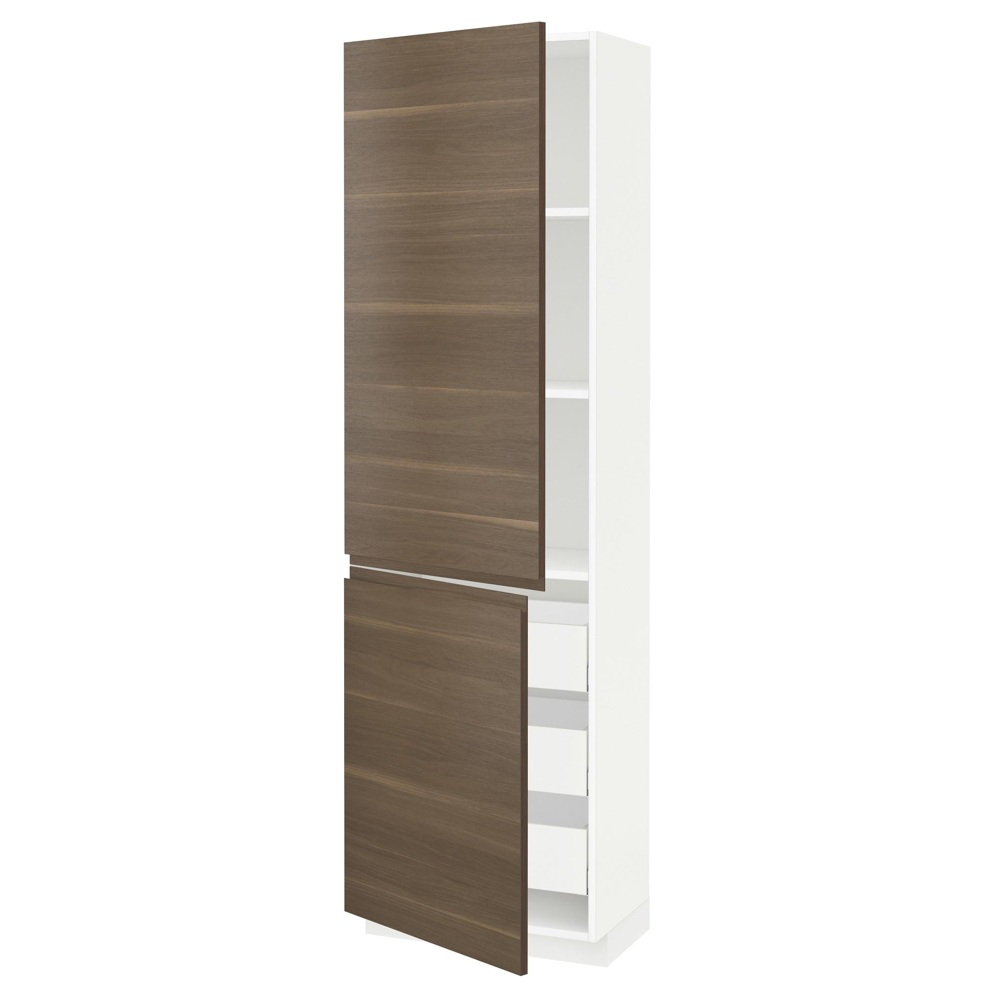 Высокий шкаф + полки, 3 ящика, 2 дверцы МЕТОД / МАКСИМЕРА белый артикуль № 592.389.53 в наличии. Онлайн сайт IKEA Минск. Быстрая доставка и соборка.