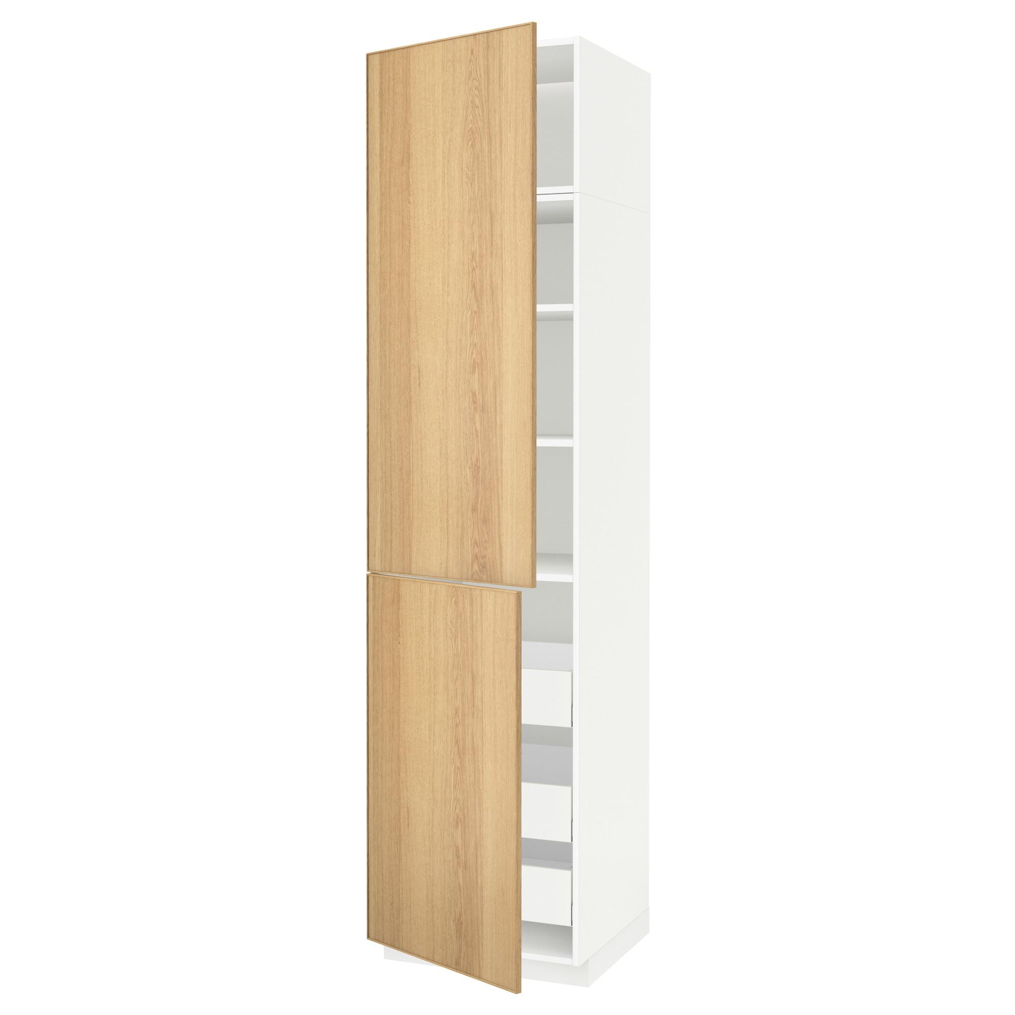 Высокий шкаф + полки, 3 ящика, 2 дверцы МЕТОД / МАКСИМЕРА белый артикуль № 892.363.49 в наличии. Онлайн сайт IKEA Беларусь. Быстрая доставка и монтаж.