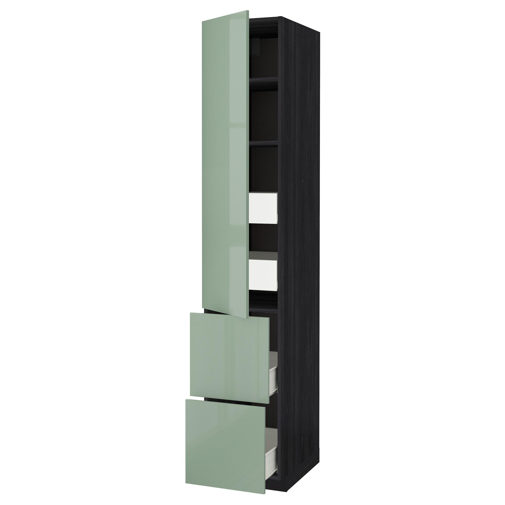 Высокий шкаф + полки, 4 ящика, 2 дверцы МЕТОД / ФОРВАРА черный артикуль № 292.657.64 в наличии. Online сайт IKEA Беларусь. Недорогая доставка и установка.