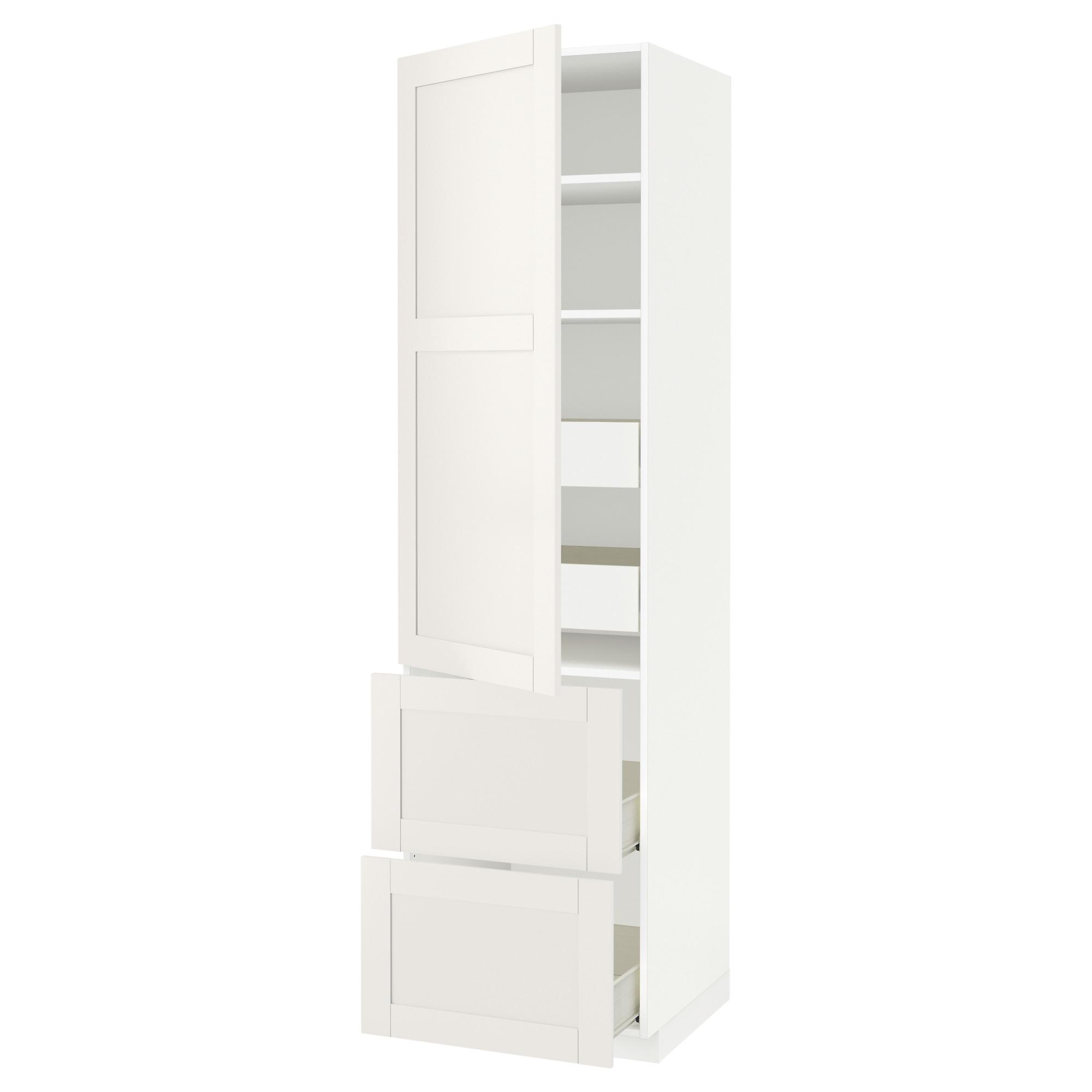 Высокий шкаф + полки, 4 ящика, 2 дверцы МЕТОД / ФОРВАРА белый артикуль № 592.657.67 в наличии. Интернет сайт IKEA Республика Беларусь. Недорогая доставка и установка.