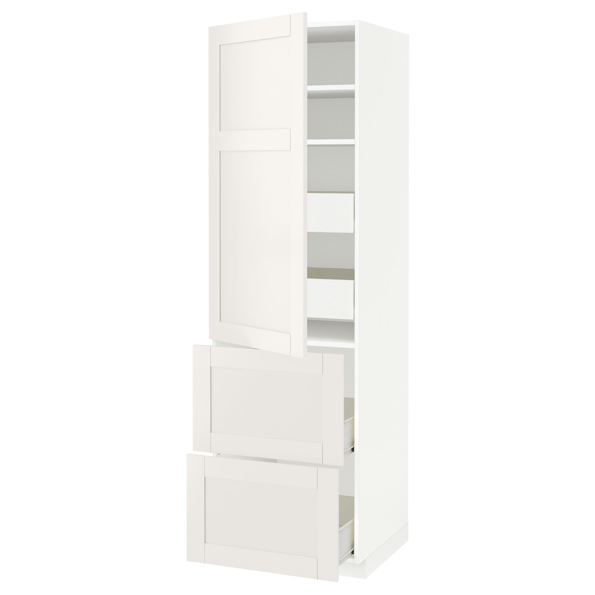 Высокий шкаф + полки, 4 ящика, 2 дверцы МЕТОД / ФОРВАРА белый артикуль № 992.658.45 в наличии. Интернет сайт IKEA Республика Беларусь. Быстрая доставка и монтаж.