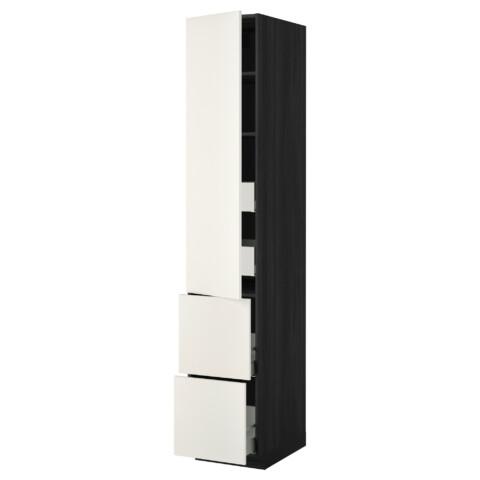 Высокий шкаф + полки, 4 ящика, 2 дверцы МЕТОД / МАКСИМЕРА черный артикуль № 292.355.45 в наличии. Интернет сайт IKEA РБ. Недорогая доставка и установка.