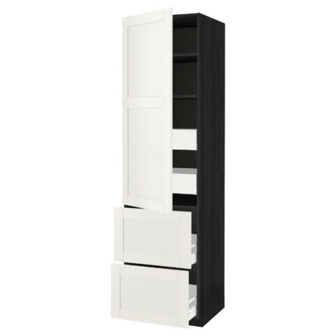 Высокий шкаф + полки, 4 ящика, 2 дверцы МЕТОД / МАКСИМЕРА черный артикуль № 892.388.57 в наличии. Онлайн каталог IKEA РБ. Недорогая доставка и установка.