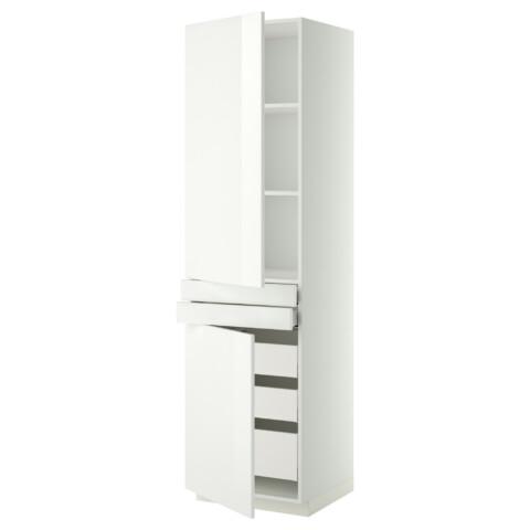 Высокий шкаф + полки, 5 ящиков, 2 дверцы, 2 фронтальных МЕТОД / МАКСИМЕРА белый артикуль № 092.364.71 в наличии. Онлайн магазин IKEA Республика Беларусь. Быстрая доставка и установка.