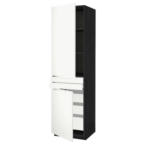 Высокий шкаф + полки, 5 ящиков, 2 дверцы, 2 фронтальных МЕТОД / МАКСИМЕРА черный артикуль № 292.389.35 в наличии. Интернет магазин IKEA Минск. Недорогая доставка и монтаж.