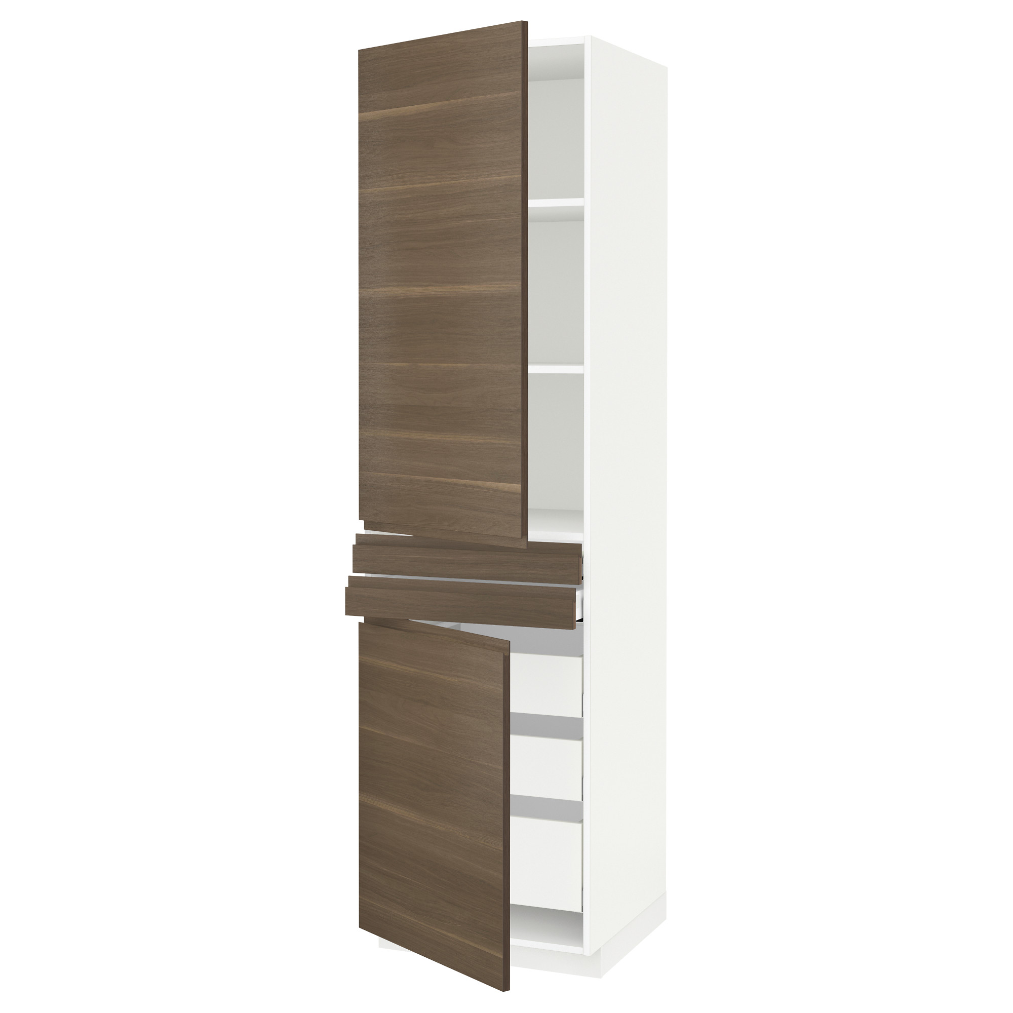 Высокий шкаф + полки, 5 ящиков, 2 дверцы, 2 фронтальных МЕТОД / МАКСИМЕРА белый артикуль № 492.389.39 в наличии. Онлайн магазин IKEA РБ. Быстрая доставка и установка.