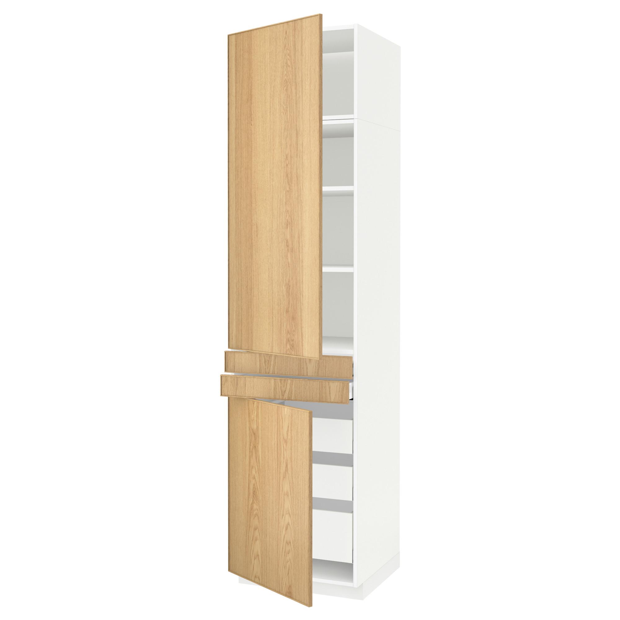 Высокий шкаф + полки, 5 ящиков, 2 дверцы, 2 фронтальных МЕТОД / МАКСИМЕРА белый артикуль № 592.364.83 в наличии. Онлайн сайт ИКЕА Минск. Недорогая доставка и соборка.