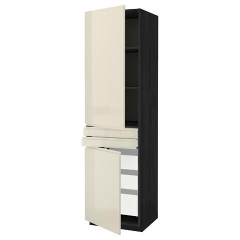 Высокий шкаф + полки, 5 ящиков, 2 дверцы, 2 фронтальных МЕТОД / МАКСИМЕРА черный артикуль № 592.389.34 в наличии. Интернет сайт IKEA Беларусь. Недорогая доставка и соборка.