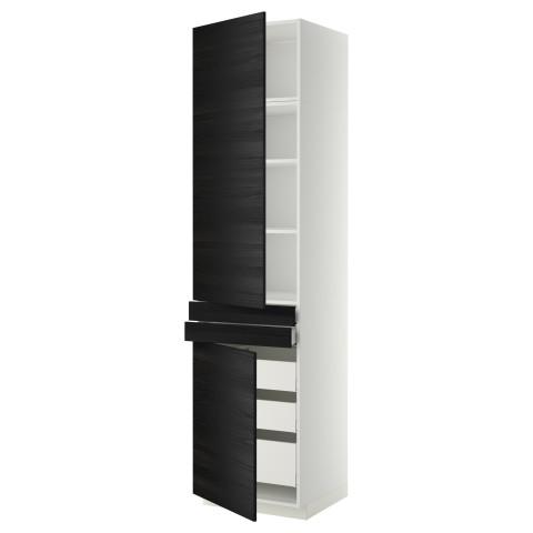 Высокий шкаф + полки, 5 ящиков, 2 дверцы, 2 фронтальных МЕТОД / МАКСИМЕРА черный артикуль № 692.364.87 в наличии. Онлайн магазин IKEA Беларусь. Быстрая доставка и установка.