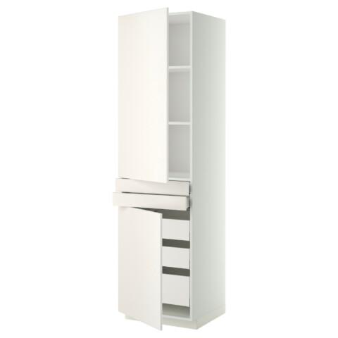 Высокий шкаф + полки, 5 ящиков, 2 дверцы, 2 фронтальных МЕТОД / МАКСИМЕРА белый артикуль № 792.357.03 в наличии. Онлайн сайт IKEA Беларусь. Быстрая доставка и монтаж.