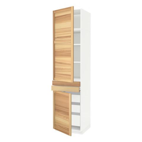 Высокий шкаф + полки, 5 ящиков, 2 дверцы, 2 фронтальных МЕТОД / МАКСИМЕРА белый артикуль № 792.364.82 в наличии. Онлайн магазин IKEA РБ. Быстрая доставка и монтаж.