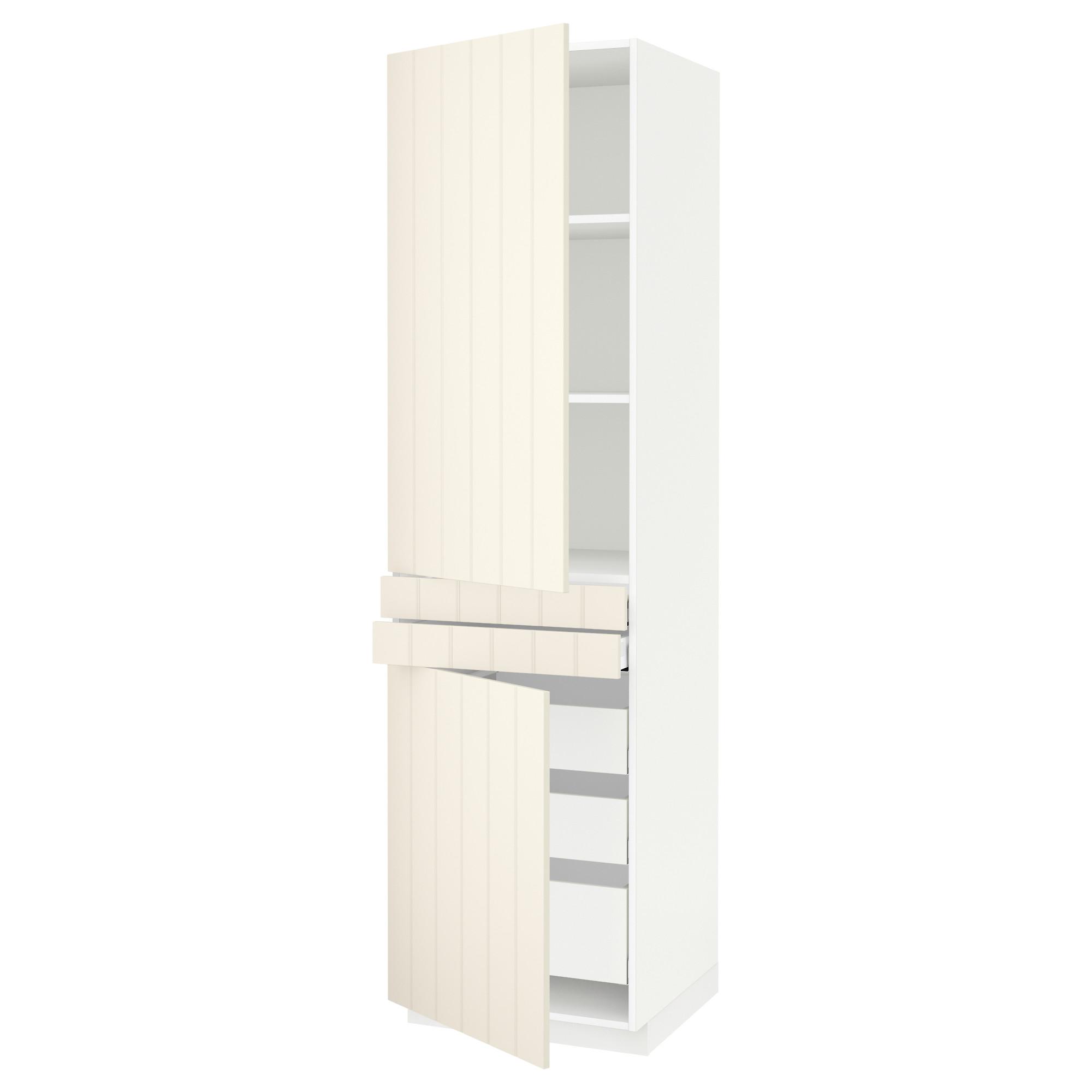 Высокий шкаф + полки, 5 ящиков, 2 дверцы, 2 фронтальных МЕТОД / МАКСИМЕРА белый артикуль № 992.307.47 в наличии. Интернет сайт IKEA Минск. Быстрая доставка и монтаж.