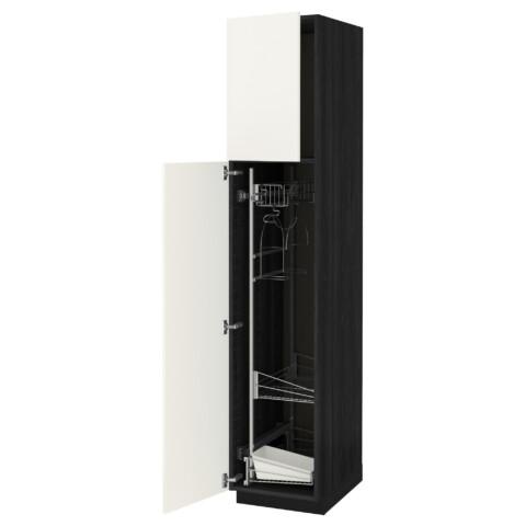 Высокий шкаф с отделением для аксессуаров, для уборки МЕТОД черный артикуль № 492.231.41 в наличии. Онлайн магазин ИКЕА РБ. Быстрая доставка и монтаж.
