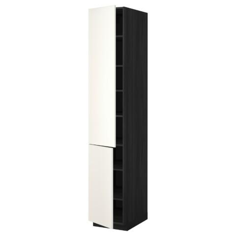 Высокий шкаф с полками, 2 дверцы МЕТОД черный артикуль № 792.234.08 в наличии. Онлайн сайт ИКЕА РБ. Быстрая доставка и монтаж.