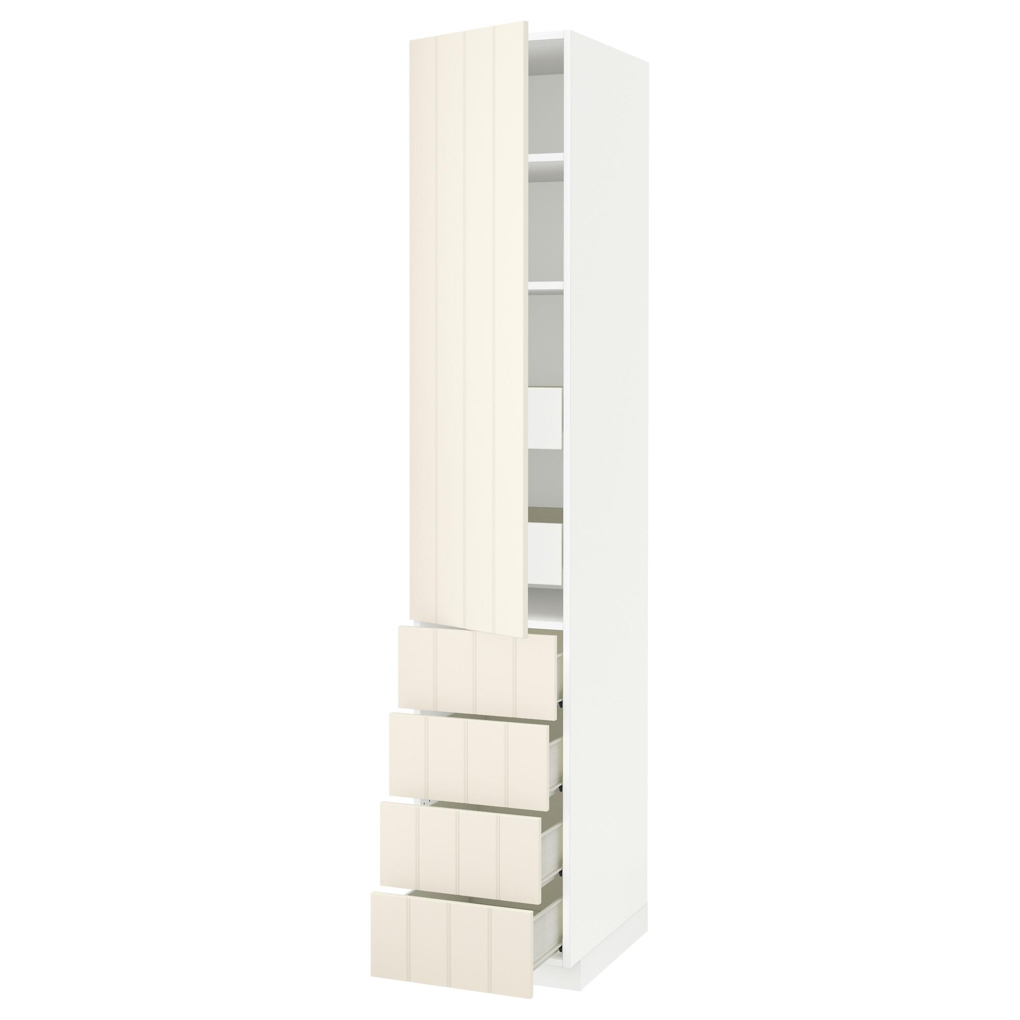 Высокий шкаф с полками/6 ящик, дверцами, 4 фронтальные панели МЕТОД / ФОРВАРА белый артикуль № 092.619.41 в наличии. Онлайн сайт IKEA Республика Беларусь. Быстрая доставка и монтаж.