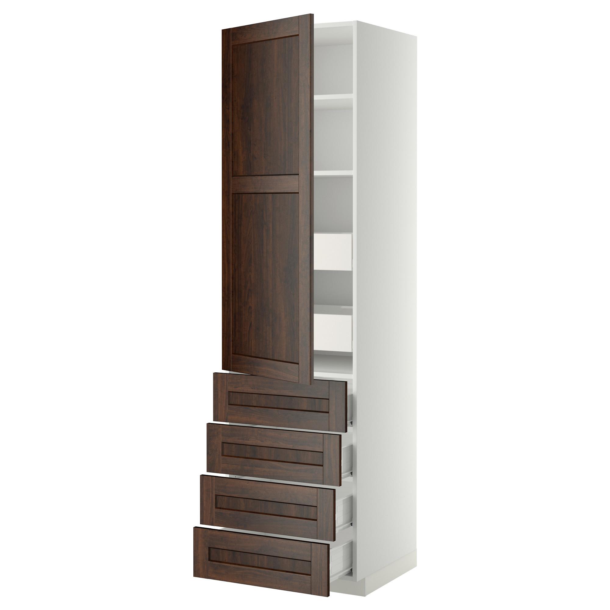 Высокий шкаф с полками/6 ящик, дверцами, 4 фронтальные панели МЕТОД / ФОРВАРА белый артикуль № 192.618.08 в наличии. Онлайн каталог IKEA Минск. Быстрая доставка и установка.