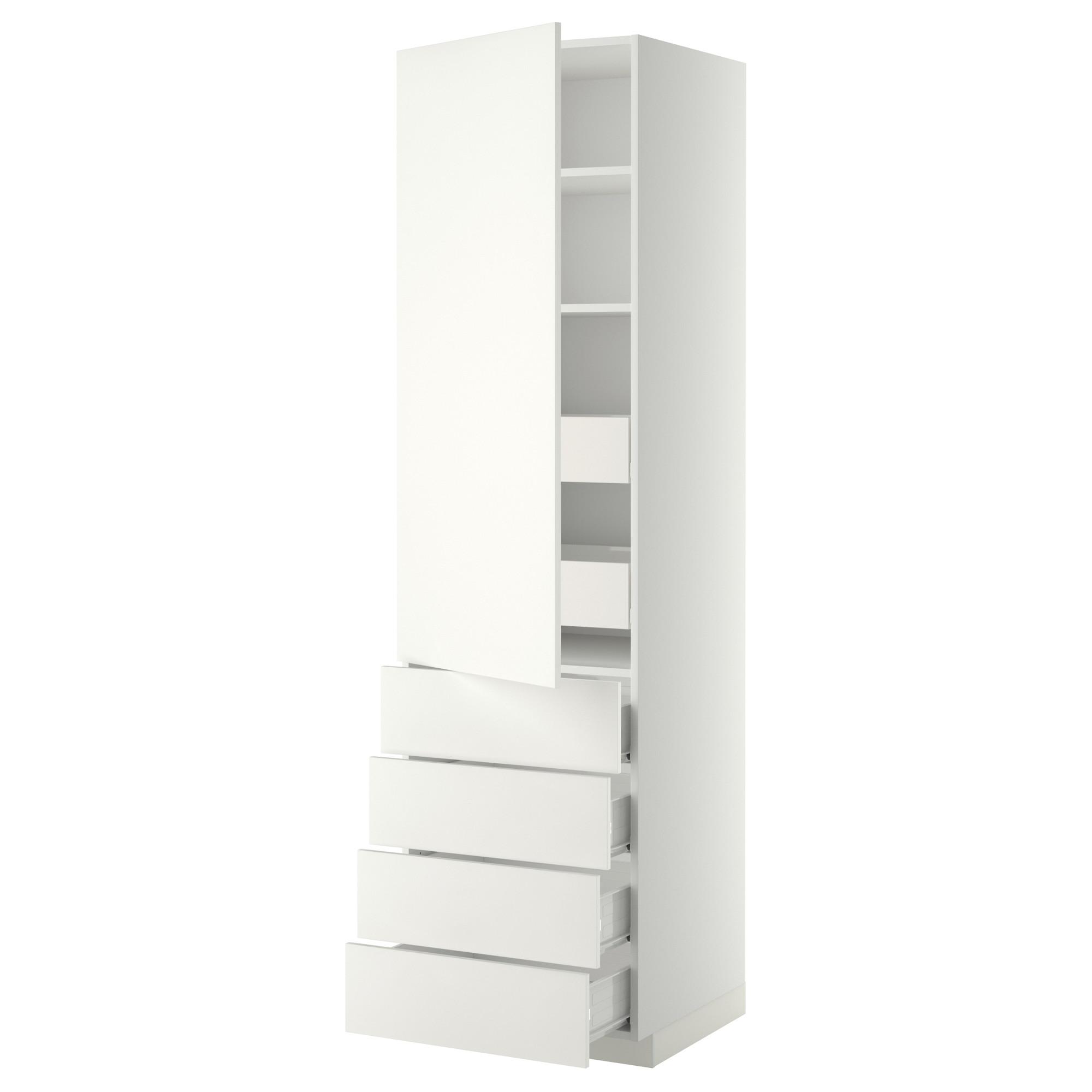Высокий шкаф с полками/6 ящик, дверцами, 4 фронтальные панели МЕТОД / ФОРВАРА белый артикуль № 192.620.87 в наличии. Онлайн каталог IKEA РБ. Недорогая доставка и соборка.