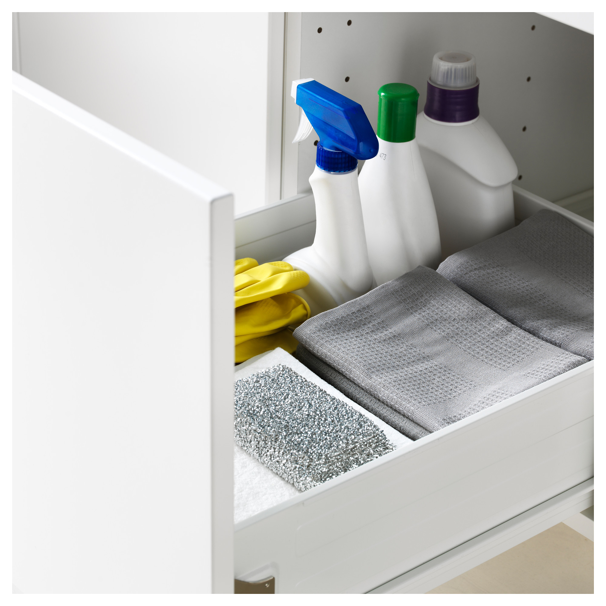 Высокий шкаф с полками/6 ящик, дверцами, 4 фронтальные панели МЕТОД / ФОРВАРА белый артикуль № 592.618.06 в наличии. Онлайн каталог IKEA Минск. Быстрая доставка и монтаж.