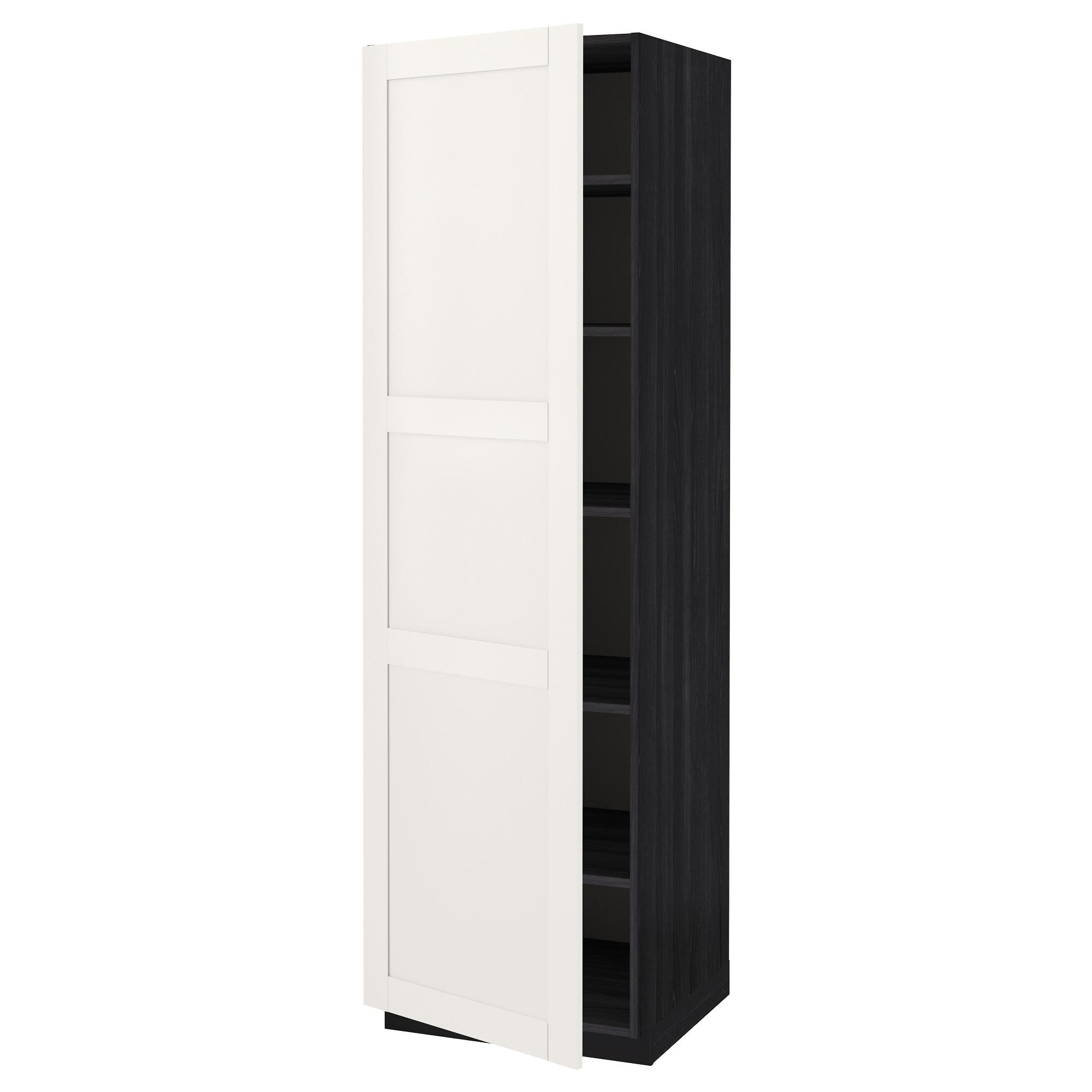Высокий шкаф с полками МЕТОД черный артикуль № 092.230.58 в наличии. Online магазин IKEA Минск. Недорогая доставка и соборка.