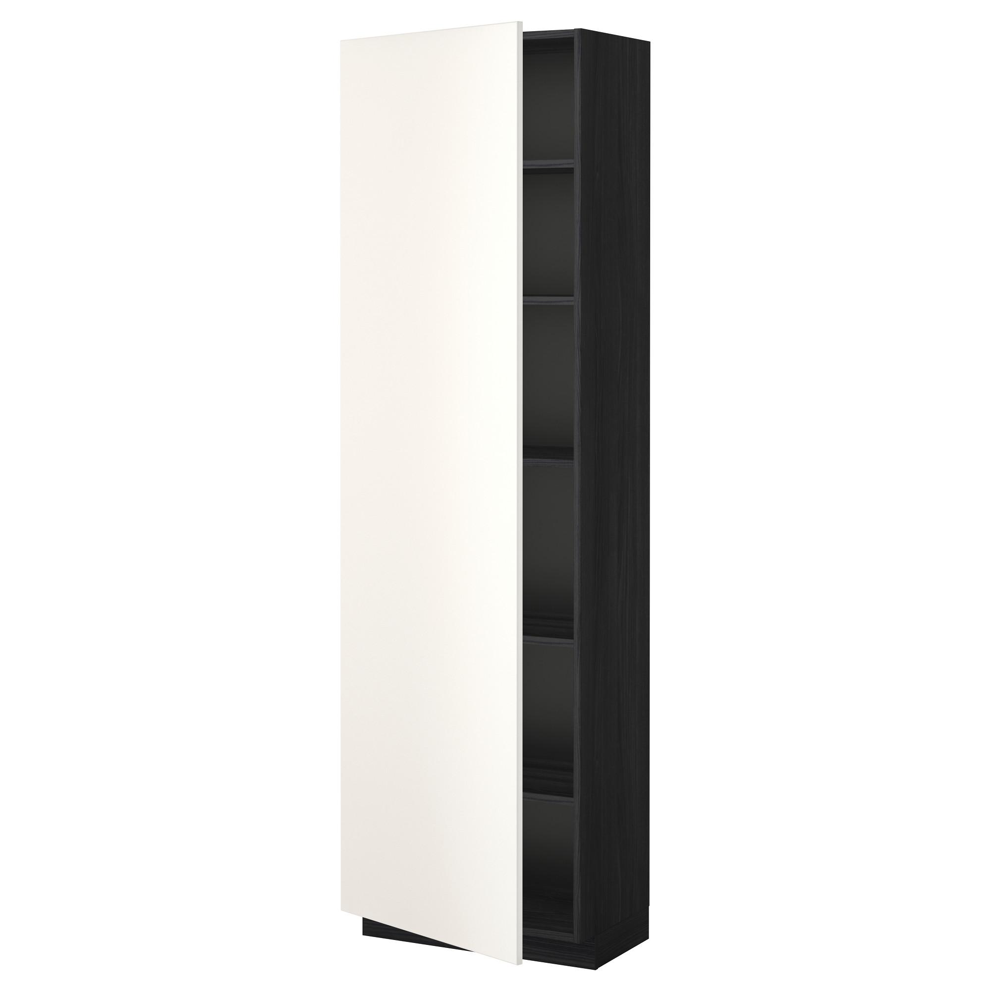 Высокий шкаф с полками МЕТОД черный артикуль № 992.239.40 в наличии. Интернет каталог IKEA РБ. Быстрая доставка и соборка.