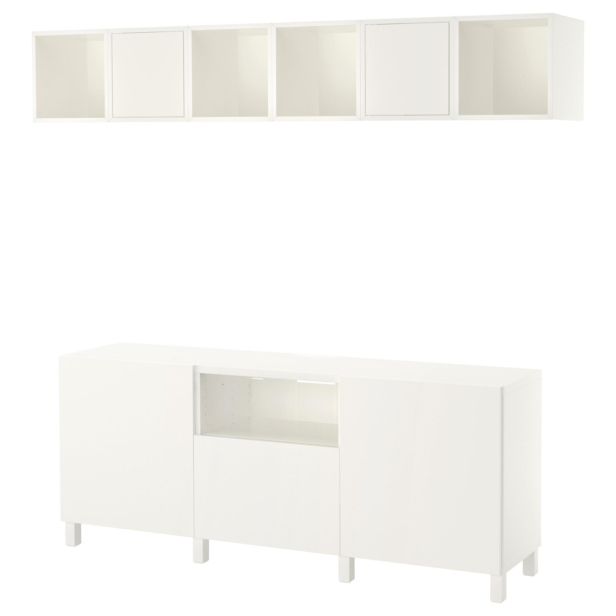 Комбинация для ТВ БЕСТО / ЭКЕТ белый артикуль № 892.756.18 в наличии. Онлайн сайт IKEA Минск. Недорогая доставка и соборка.