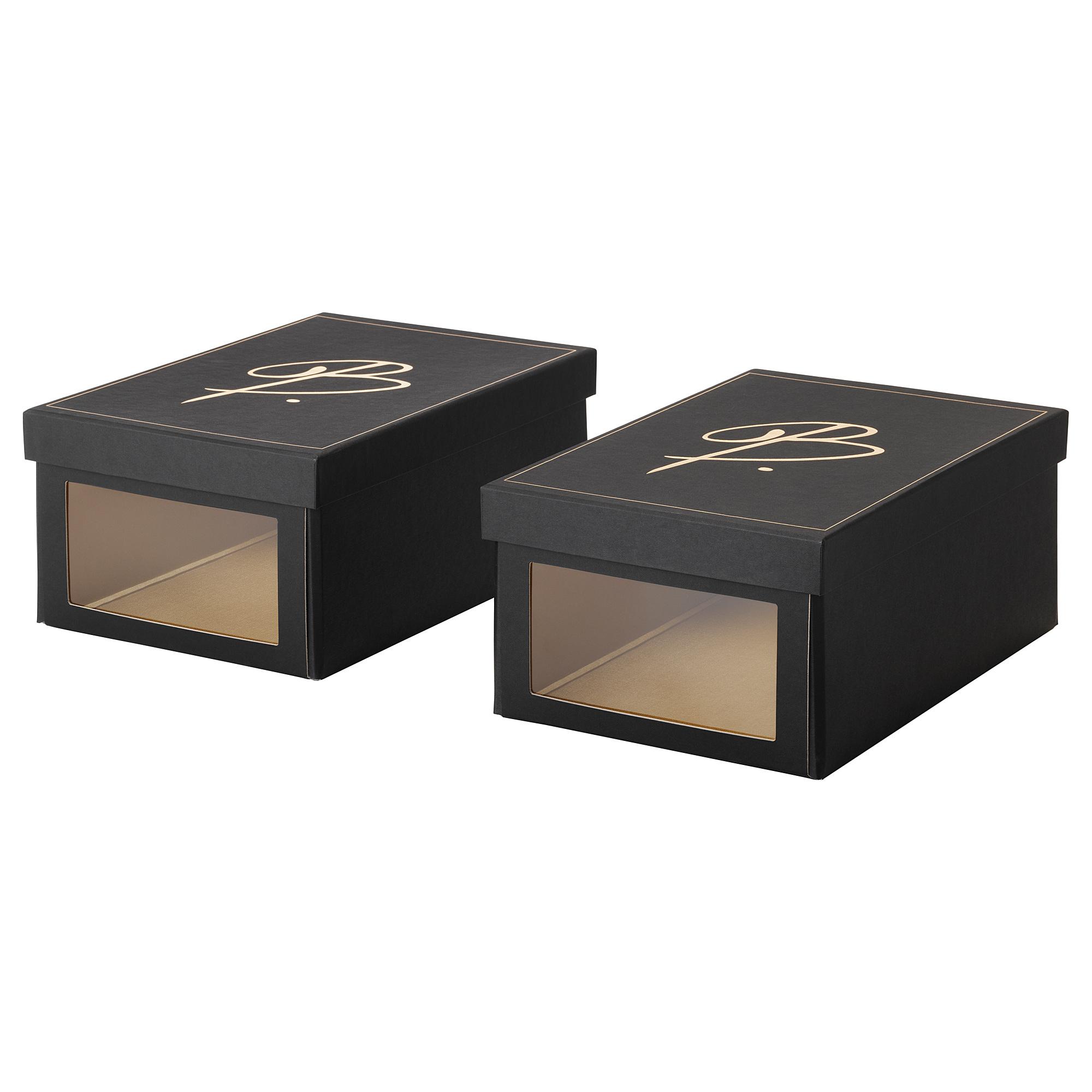 Коробка для обуви ОМЕДЕЛЬБАР черный артикуль № 604.001.18 в наличии. Онлайн сайт ИКЕА Республика Беларусь. Недорогая доставка и установка.