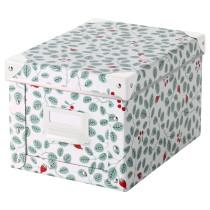 Коробка с крышкой ФЬЕЛЛА зеленый артикуль № 203.991.93 в наличии. Онлайн сайт ИКЕА Минск. Быстрая доставка и монтаж.