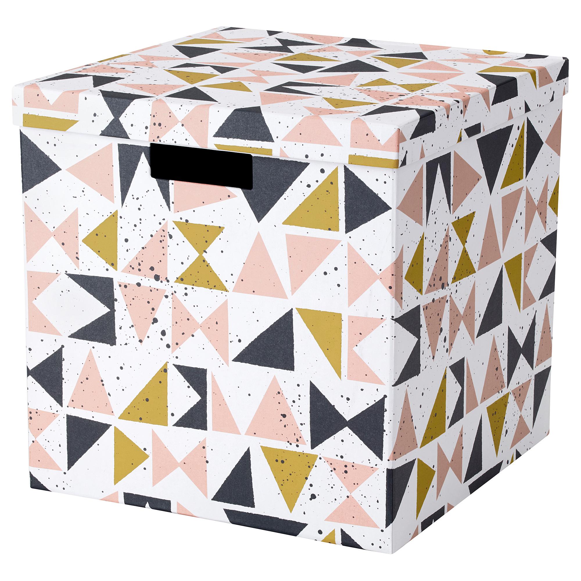 Коробка с крышкой ТЬЕНА черный артикуль № 203.982.16 в наличии. Онлайн сайт IKEA Беларусь. Быстрая доставка и соборка.