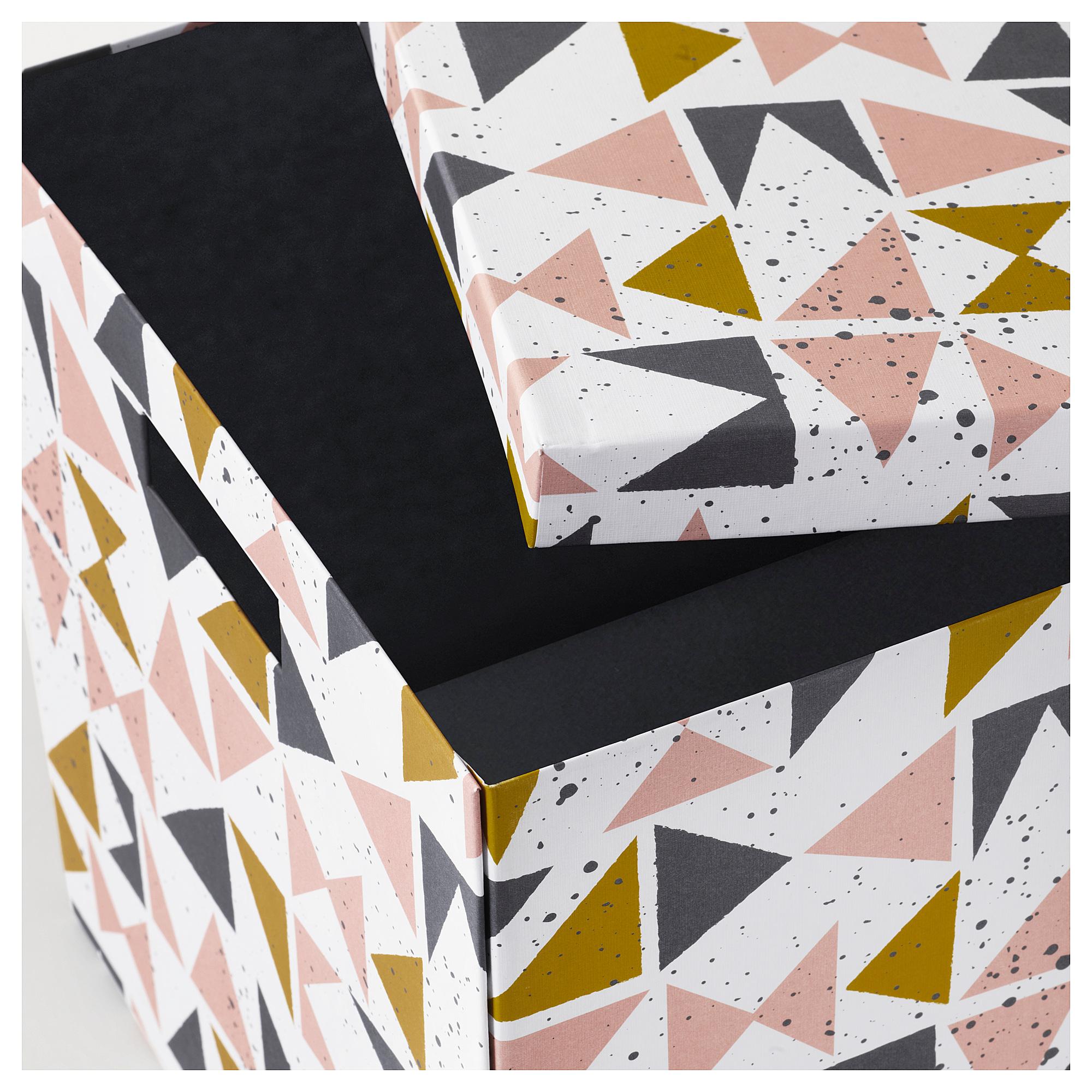 Коробка с крышкой ТЬЕНА черный артикуль № 203.982.16 в наличии. Online сайт IKEA Республика Беларусь. Недорогая доставка и установка.