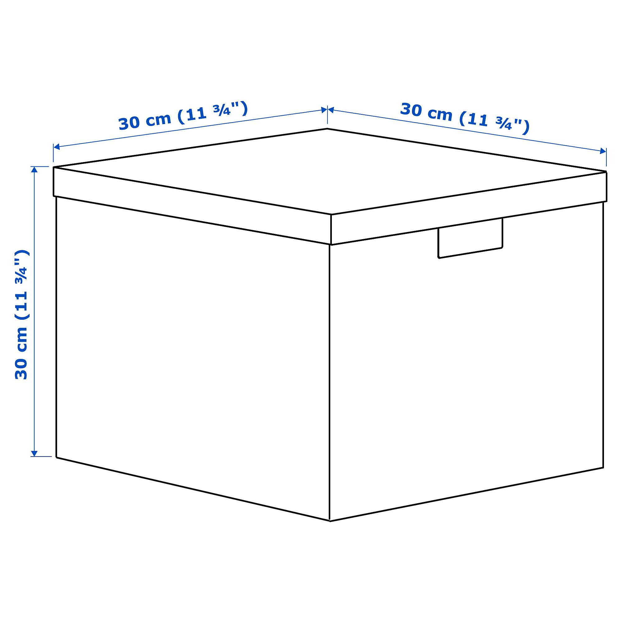 Коробка с крышкой ТЬЕНА черный артикуль № 203.982.16 в наличии. Онлайн сайт IKEA РБ. Быстрая доставка и монтаж.