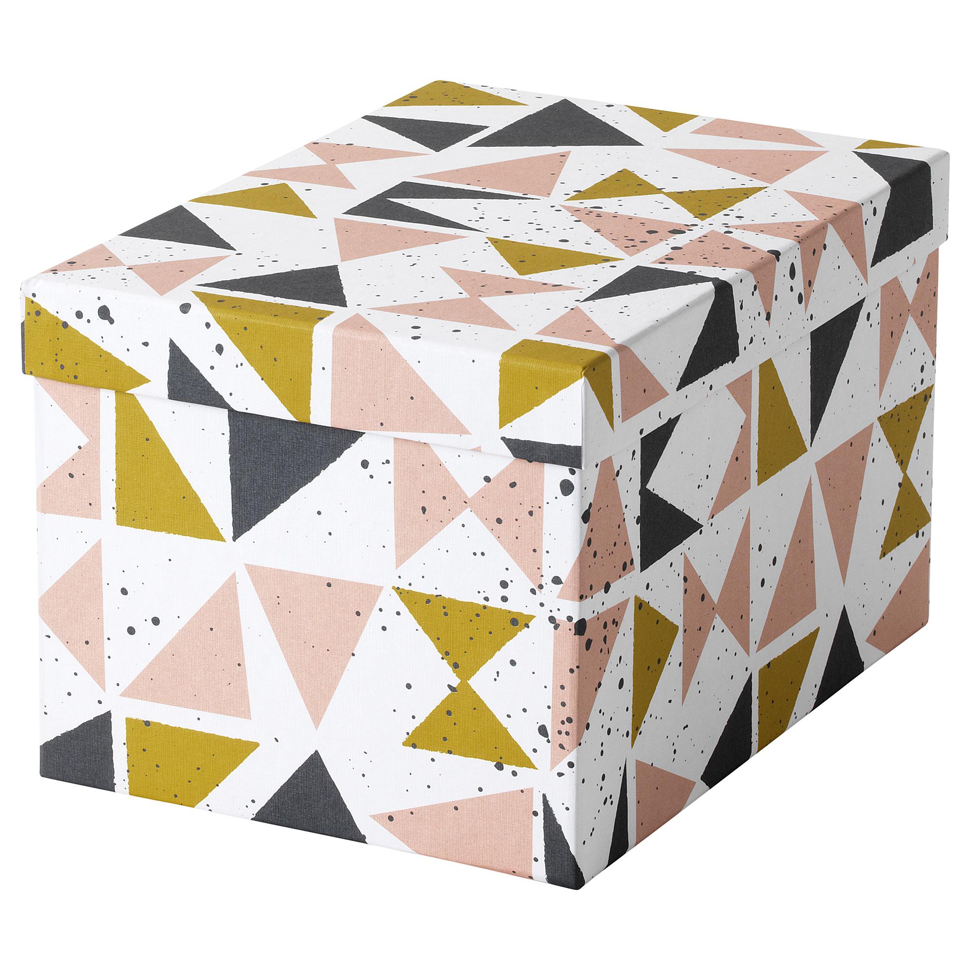 Коробка с крышкой ТЬЕНА черный артикуль № 403.982.20 в наличии. Онлайн магазин IKEA Минск. Недорогая доставка и соборка.