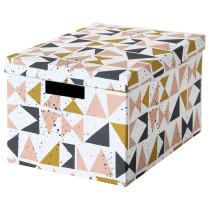 Коробка с крышкой ТЬЕНА черный артикуль № 803.982.18 в наличии. Онлайн каталог IKEA Республика Беларусь. Быстрая доставка и соборка.