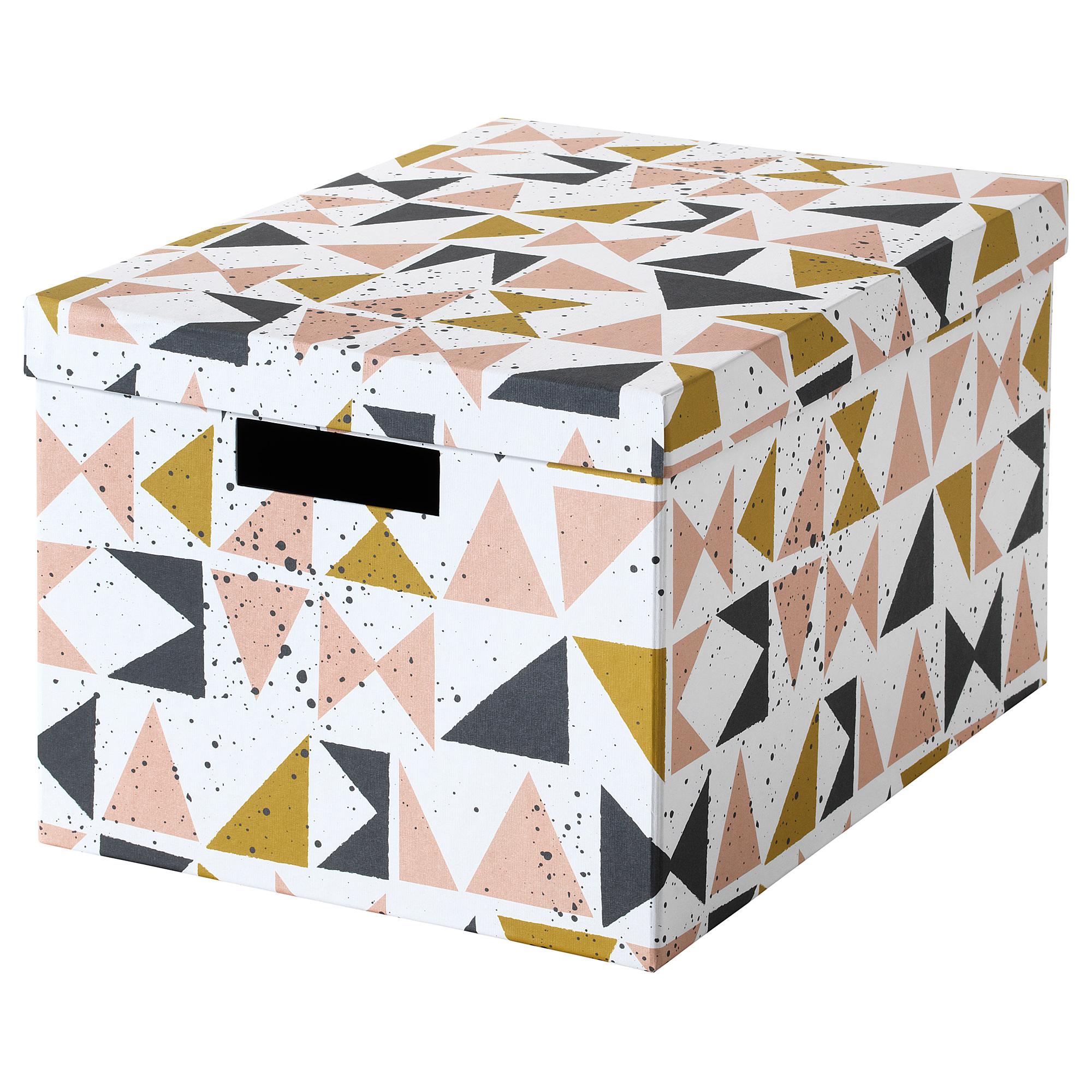 Коробка с крышкой ТЬЕНА черный артикуль № 803.982.18 в наличии. Интернет сайт ИКЕА Беларусь. Недорогая доставка и установка.