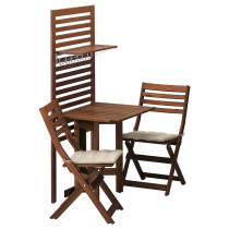 Панель, стол, 2 стула ЭПЛАРО бежевый артикуль № 092.288.76 в наличии. Интернет магазин IKEA Беларусь. Быстрая доставка и установка.
