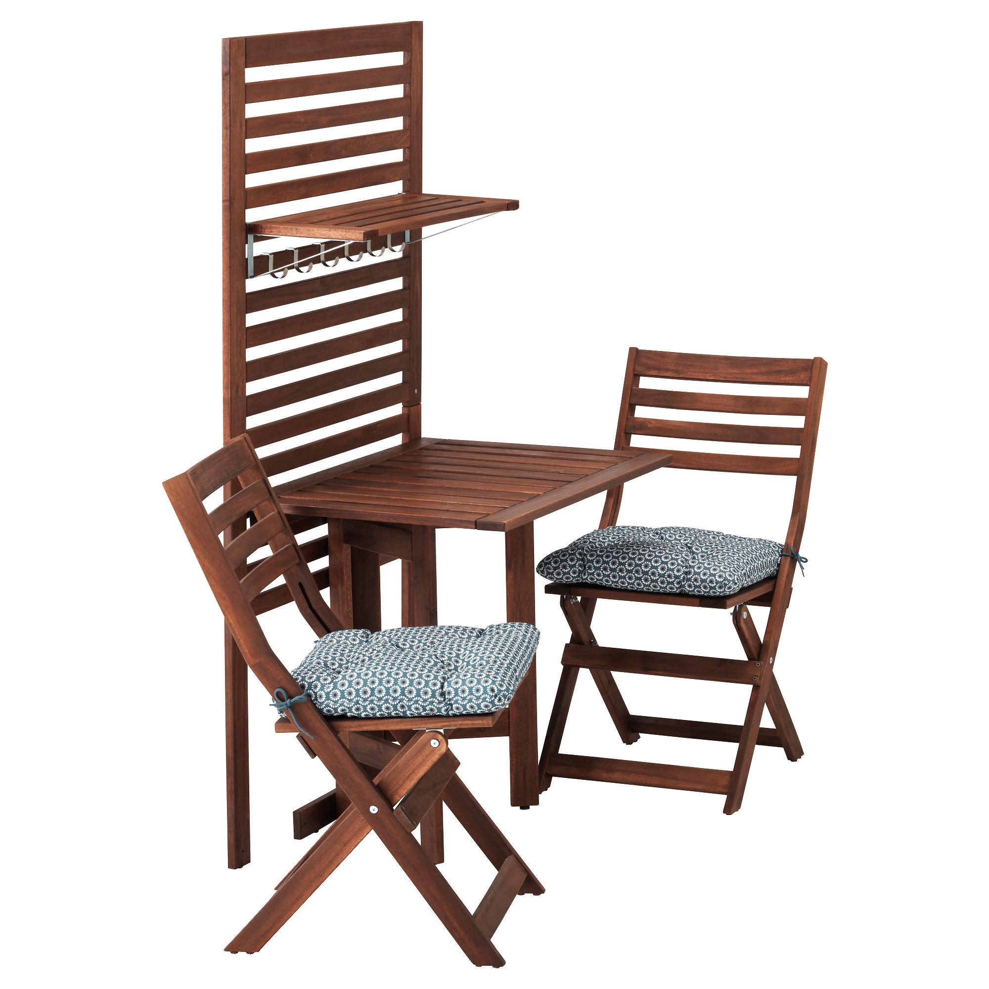Панель, стол, 2 стула ЭПЛАРО синий артикуль № 292.288.75 в наличии. Online магазин IKEA Республика Беларусь. Быстрая доставка и установка.
