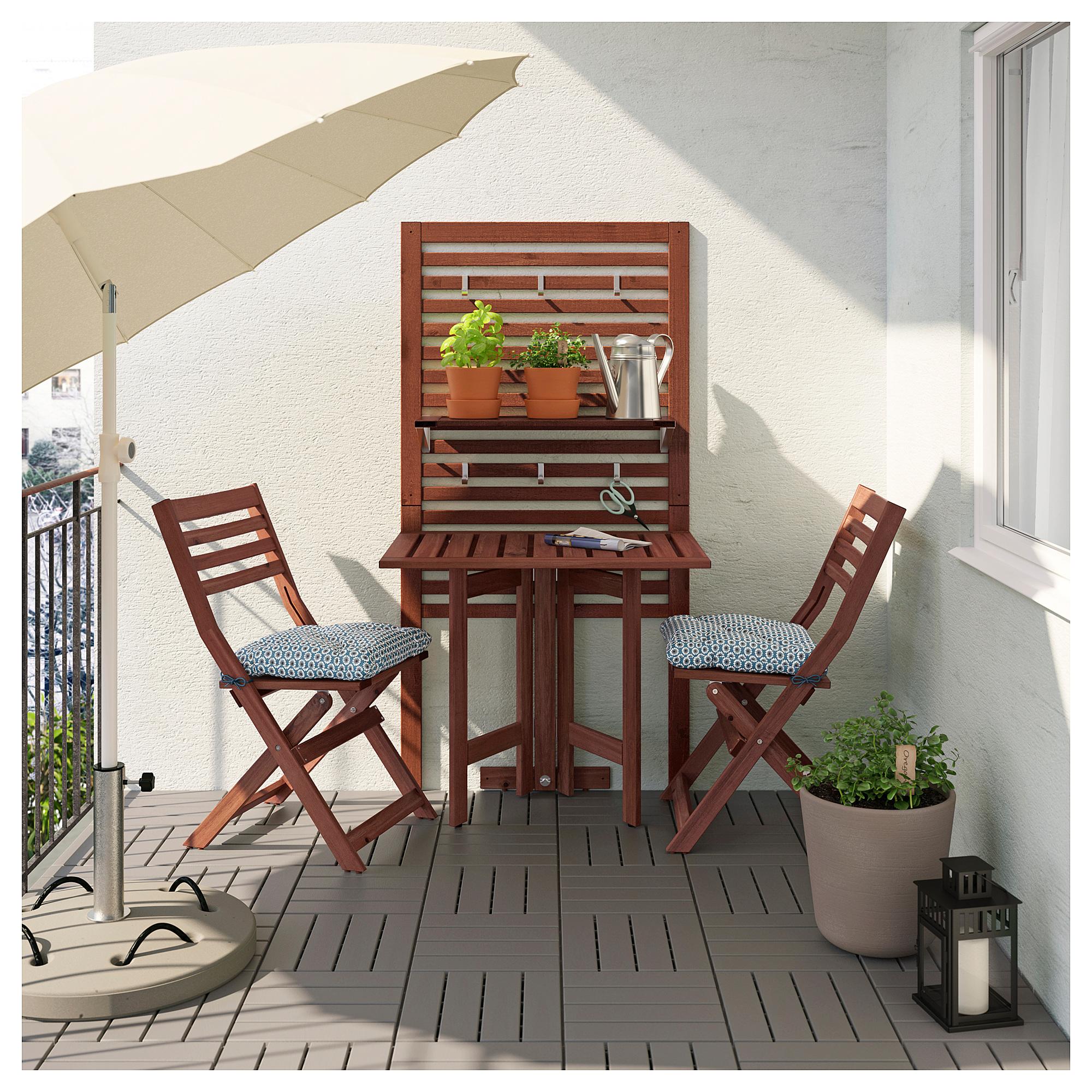 Панель, стол, 2 стула ЭПЛАРО синий артикуль № 292.288.75 в наличии. Интернет сайт IKEA Беларусь. Быстрая доставка и установка.