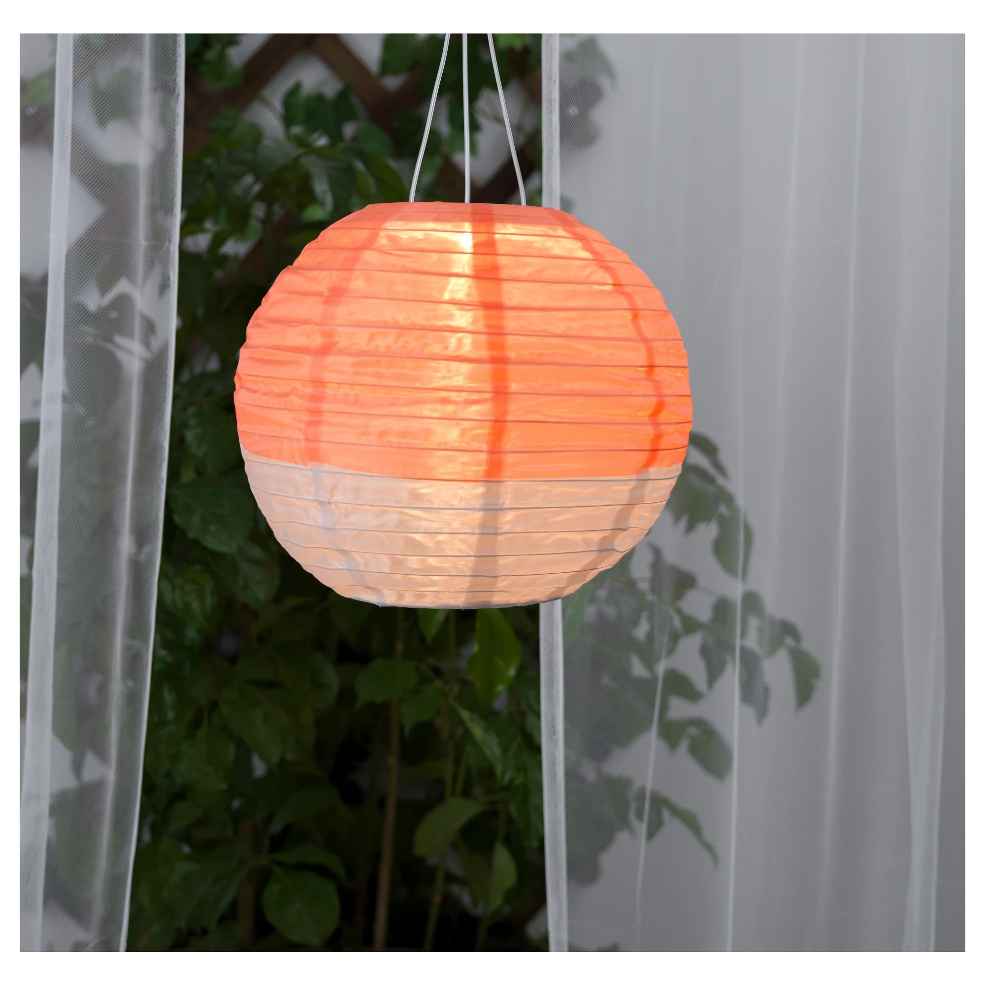 Подвесной светильник на солнечн батарея СОЛВИДЕН оранжевый артикуль № 503.830.44 в наличии. Онлайн сайт ИКЕА Минск. Быстрая доставка и монтаж.