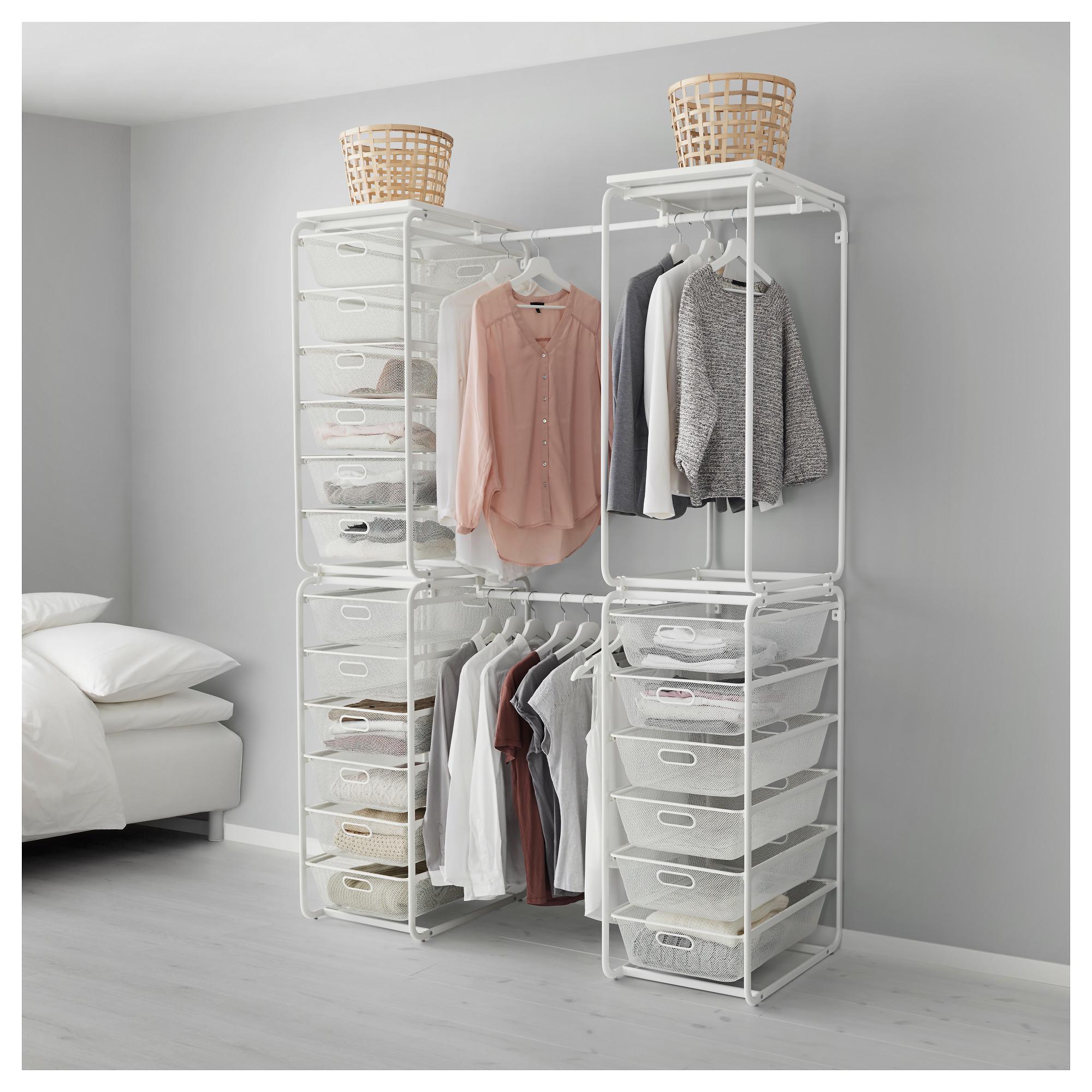 Рама + штанга, сетчатые корзин, верх полка АЛЬГОТ белый артикуль № 192.763.86 в наличии. Онлайн магазин IKEA РБ. Недорогая доставка и монтаж.