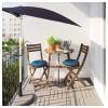 Стол + 2 складных стула, для сада АСКХОЛЬМЕН синий артикуль № 692.288.83 в наличии. Online магазин ИКЕА Минск. Быстрая доставка и монтаж.