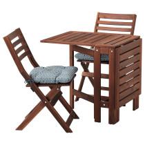 Стол + 2 складных стула для сада ЭПЛАРО синий артикуль № 592.289.25 в наличии. Интернет магазин IKEA РБ. Недорогая доставка и установка.