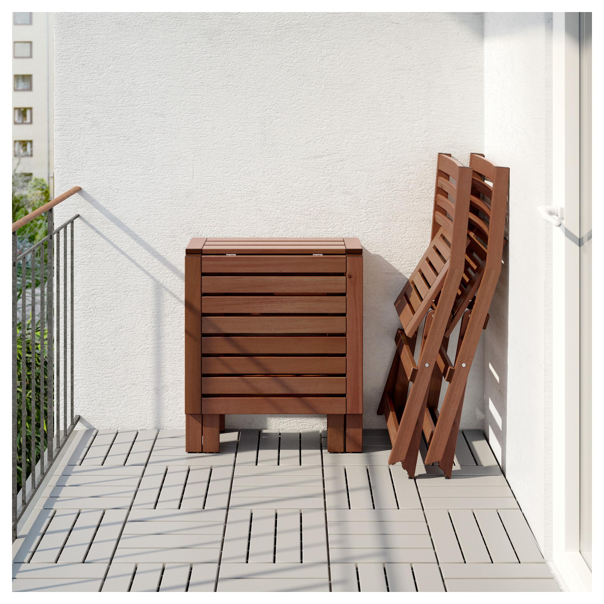 Стол + 2 складных стула для сада ЭПЛАРО черный артикуль № 892.289.24 в наличии. Онлайн каталог ИКЕА Минск. Недорогая доставка и установка.