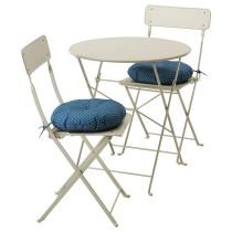 Стол + 2 складных стула для сада САЛЬТХОЛЬМЕН синий артикуль № 292.288.99 в наличии. Онлайн каталог ИКЕА Минск. Недорогая доставка и установка.