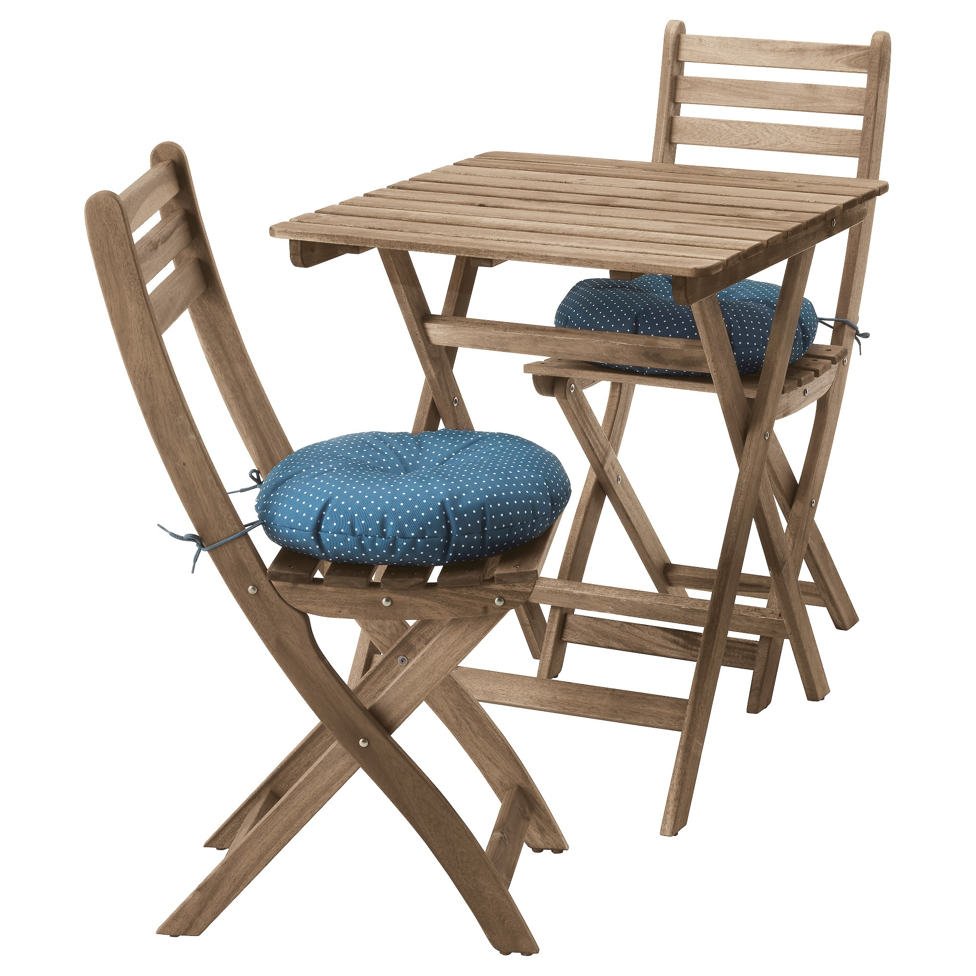Стол + 2 стула, для сада АСКХОЛЬМЕН синий артикуль № 992.288.86 в наличии. Интернет каталог IKEA Беларусь. Недорогая доставка и монтаж.