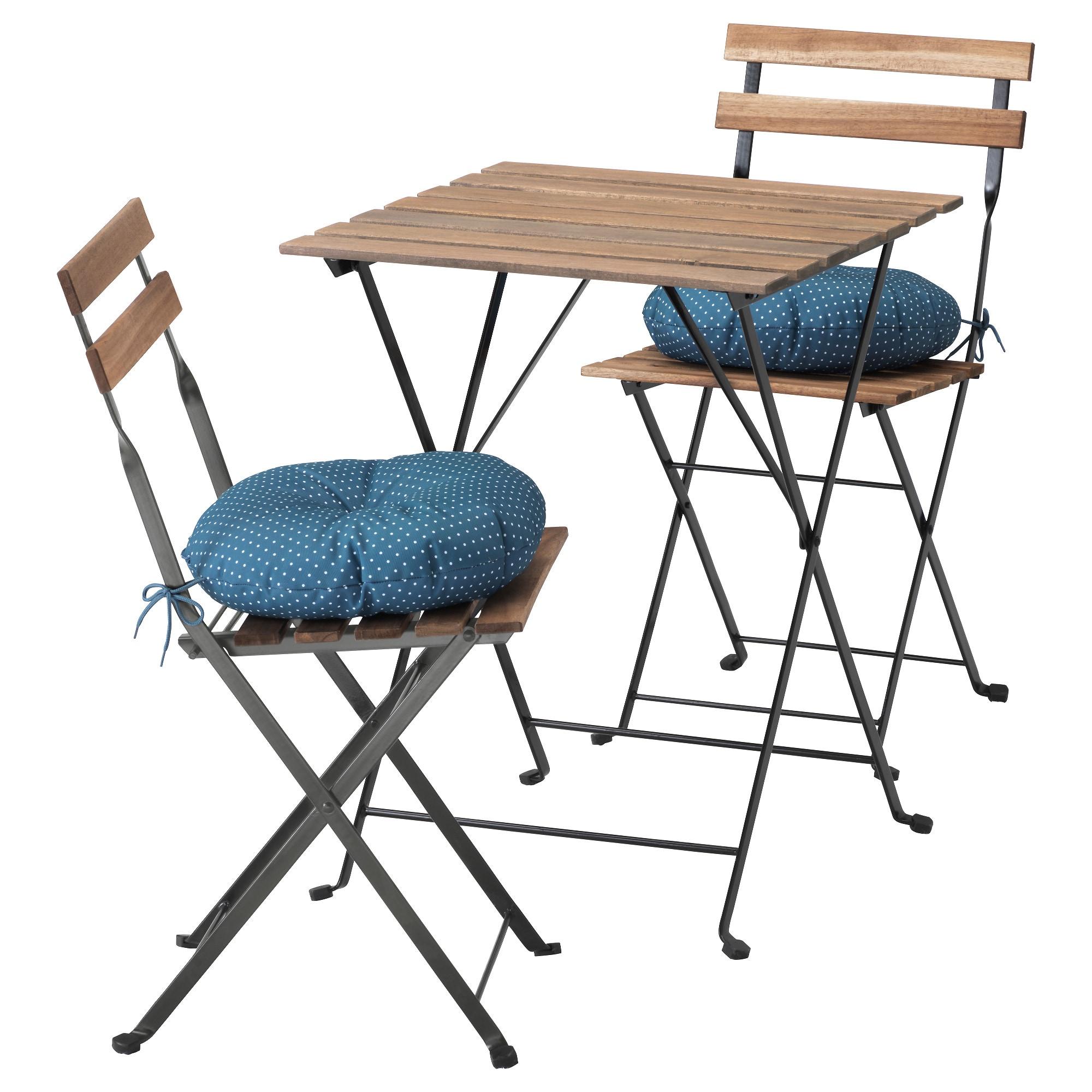 Стол + 2 стула, для сада ТЭРНО синий артикуль № 292.289.03 в наличии. Онлайн сайт ИКЕА РБ. Недорогая доставка и соборка.