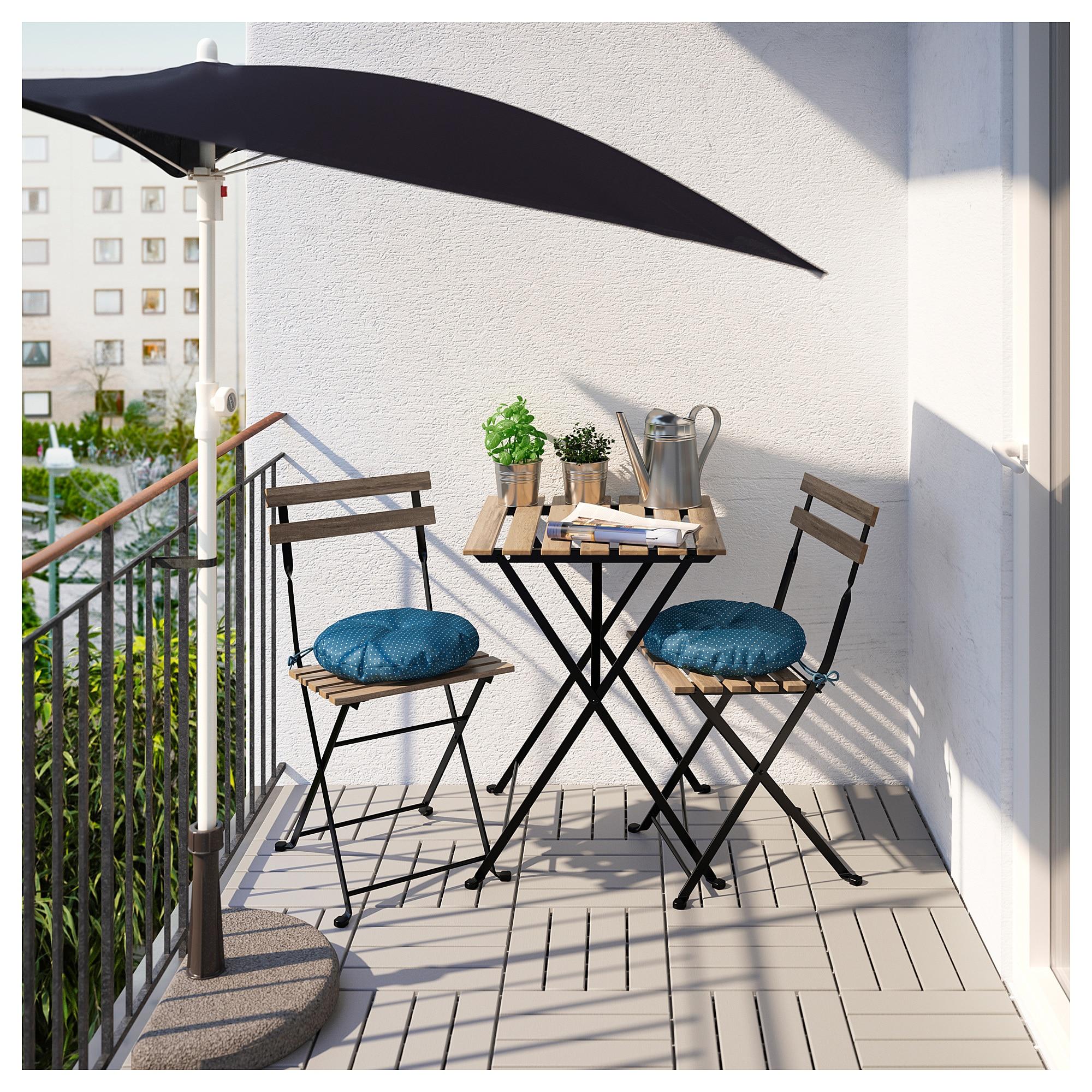 Стол + 2 стула, для сада ТЭРНО синий артикуль № 292.289.03 в наличии. Интернет магазин ИКЕА РБ. Недорогая доставка и монтаж.