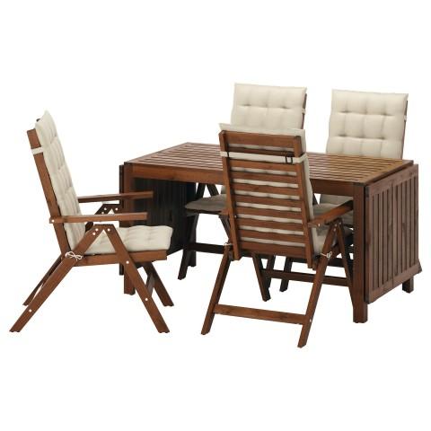 Стол + 4 кресла, для сада ЭПЛАРО бежевый артикуль № 692.289.44 в наличии. Интернет магазин IKEA РБ. Недорогая доставка и соборка.