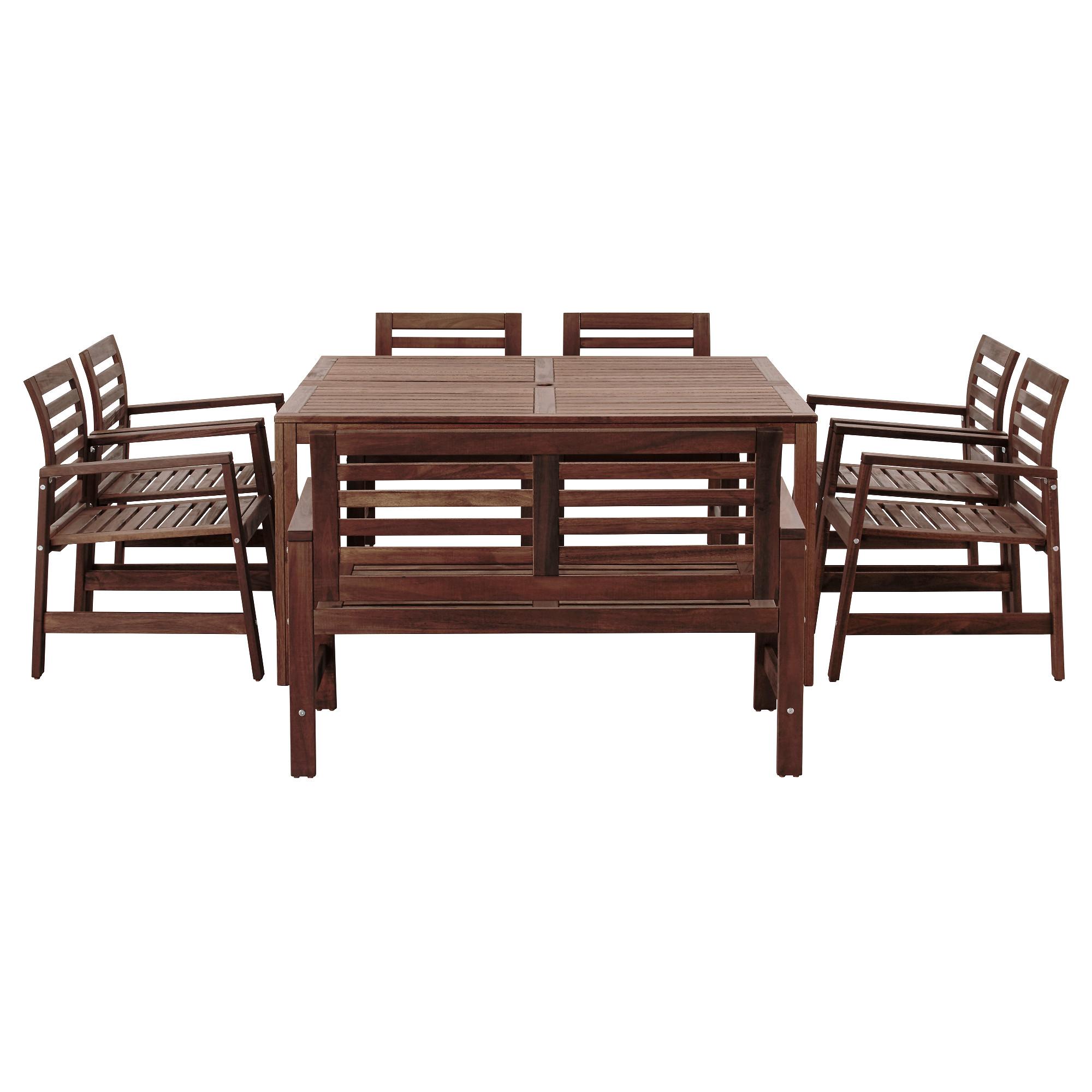 Стол + 6 кресел + скамья для сада ЭПЛАРО артикуль № 392.289.50 в наличии. Интернет сайт IKEA Минск. Быстрая доставка и установка.