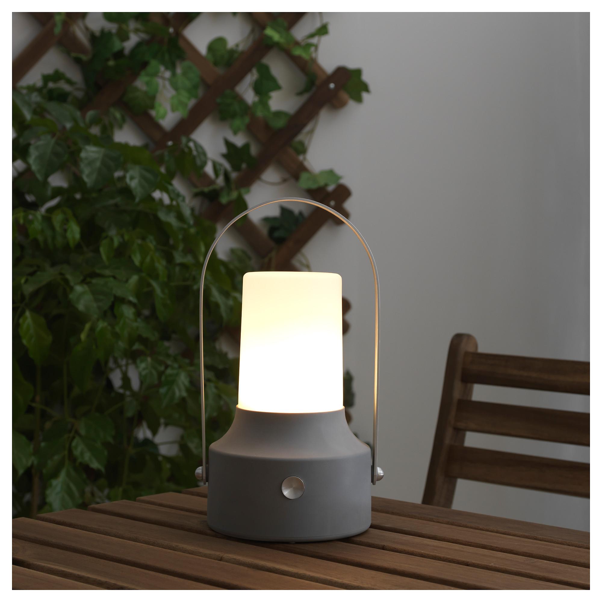 Светодиодный фонарь/солнечн батарея СОЛВИДЕН серый артикуль № 203.832.05 в наличии. Онлайн сайт IKEA Минск. Быстрая доставка и установка.